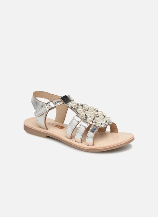 Sandals ASSO Viviana Silver detailed view/ Pair view