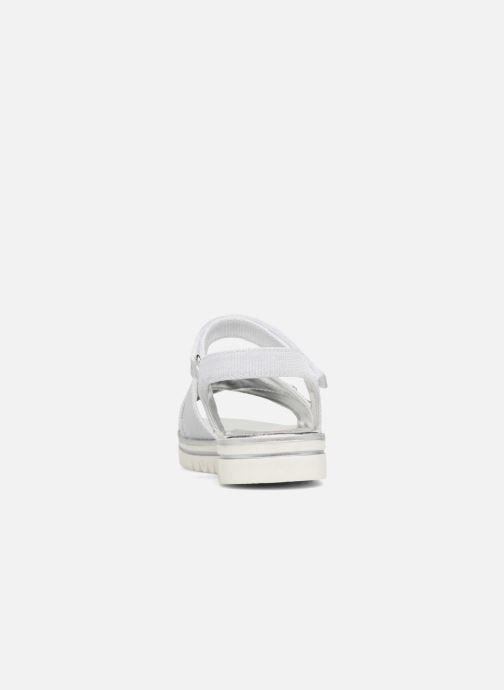 Sandales et nu-pieds ASSO Zoe Argent vue droite