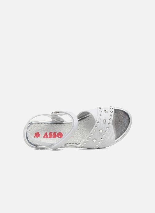 Sandales et nu-pieds ASSO Zoe Argent vue gauche