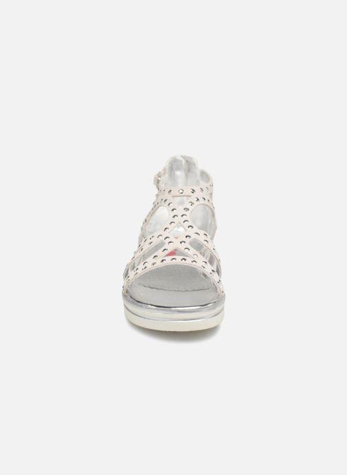 Sandales et nu-pieds ASSO Perla Gris vue portées chaussures