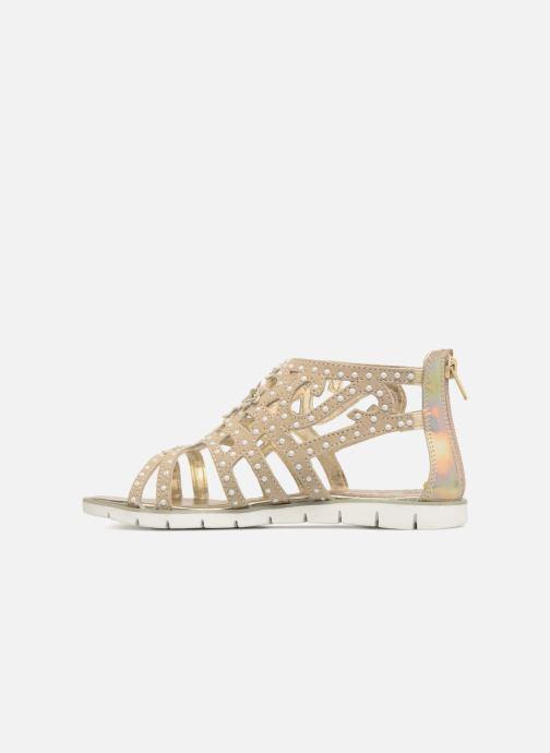 Sandales et nu-pieds ASSO Monica Or et bronze vue face