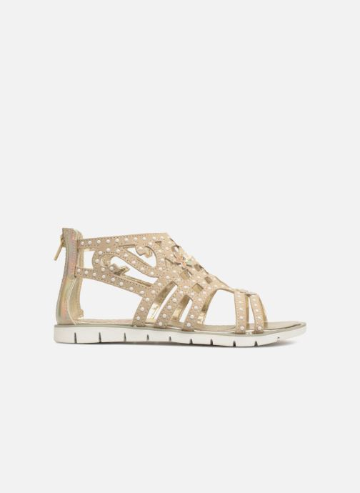 Sandales et nu-pieds ASSO Monica Or et bronze vue derrière