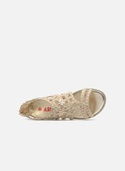 Sandales et nu-pieds ASSO Monica Or et bronze vue gauche