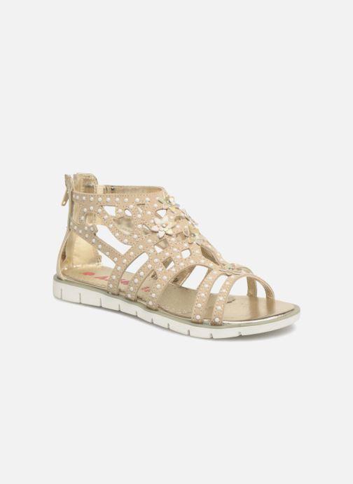 Sandales et nu-pieds ASSO Monica Or et bronze vue détail/paire