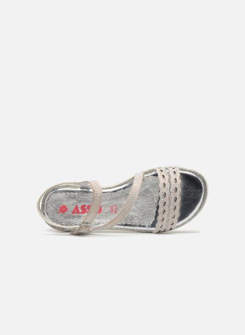 Sandales et nu-pieds ASSO Ivana Gris vue gauche