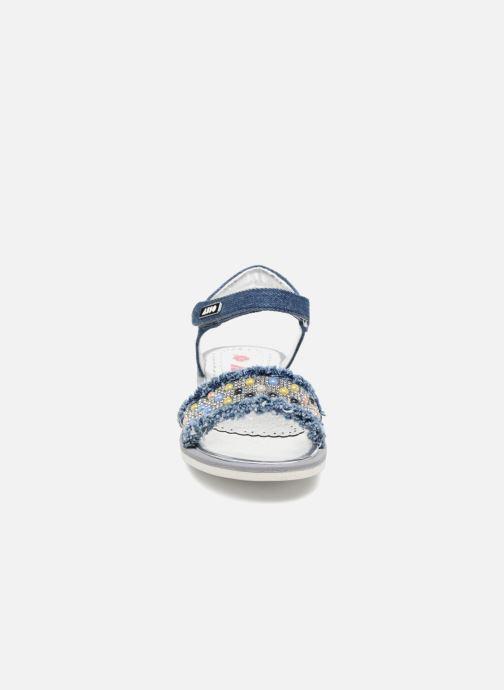 Sandales et nu-pieds ASSO Eva Bleu vue portées chaussures