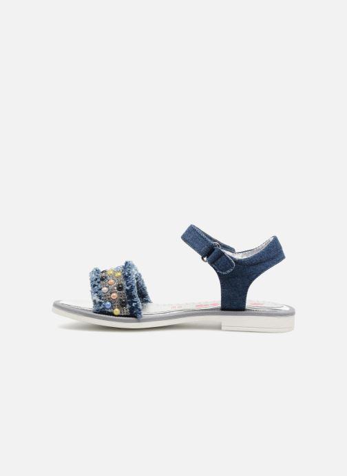 Sandales et nu-pieds ASSO Eva Bleu vue face