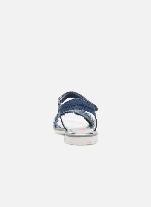Sandales et nu-pieds ASSO Eva Bleu vue droite