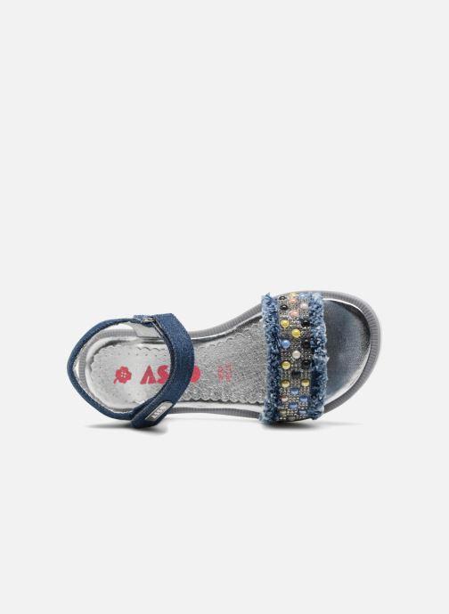 Sandales et nu-pieds ASSO Eva Bleu vue gauche