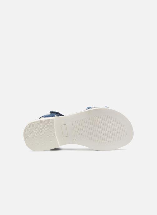 Sandales et nu-pieds ASSO Eva Bleu vue haut