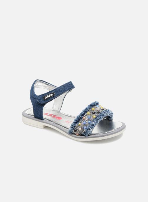 Sandales et nu-pieds ASSO Eva Bleu vue détail/paire