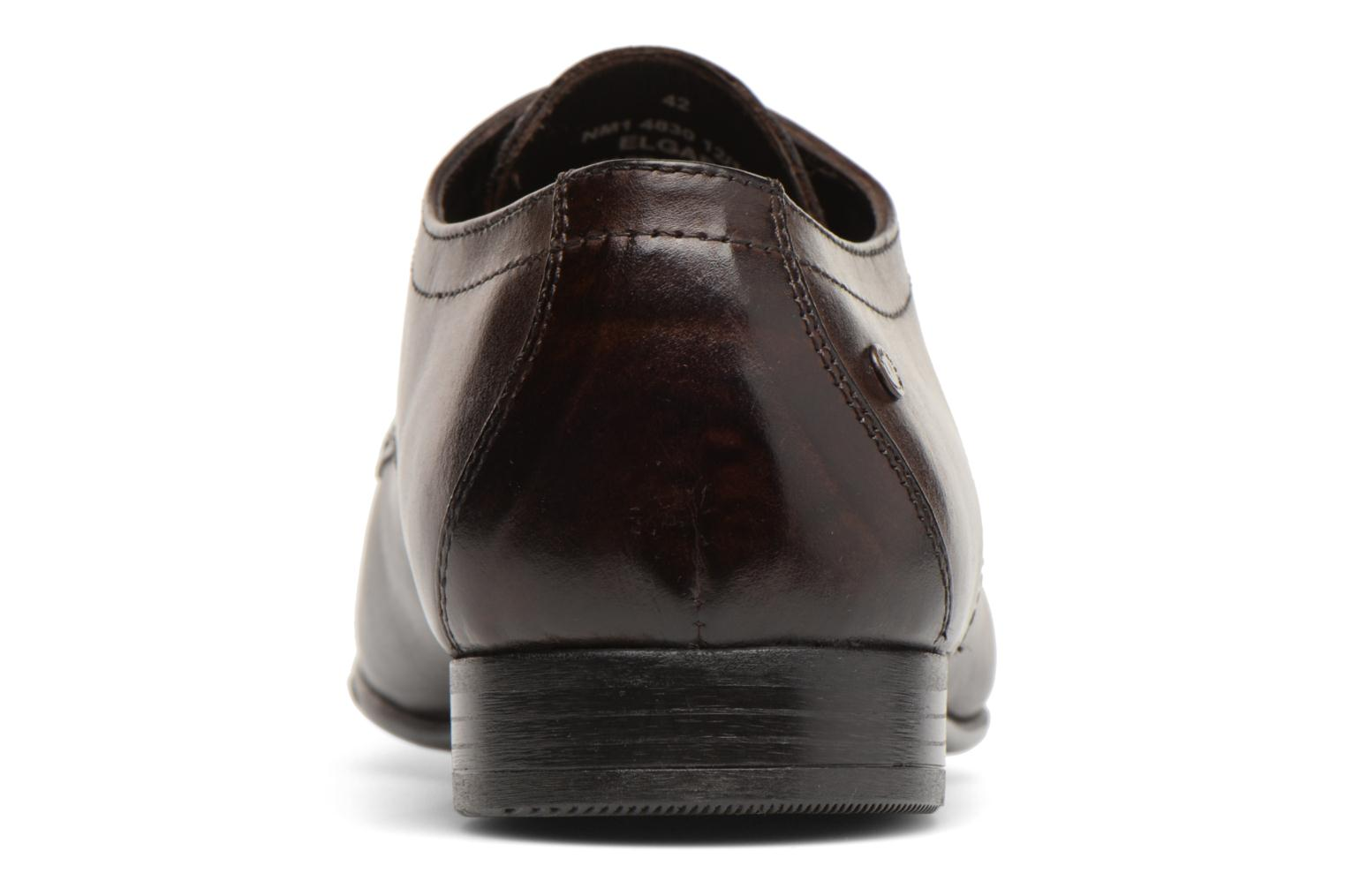 Lace-up shoes Base London Elgar Brown view from the right