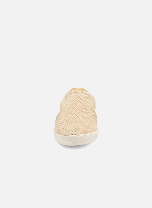 Mocassins Base London Clipper Beige vue portées chaussures