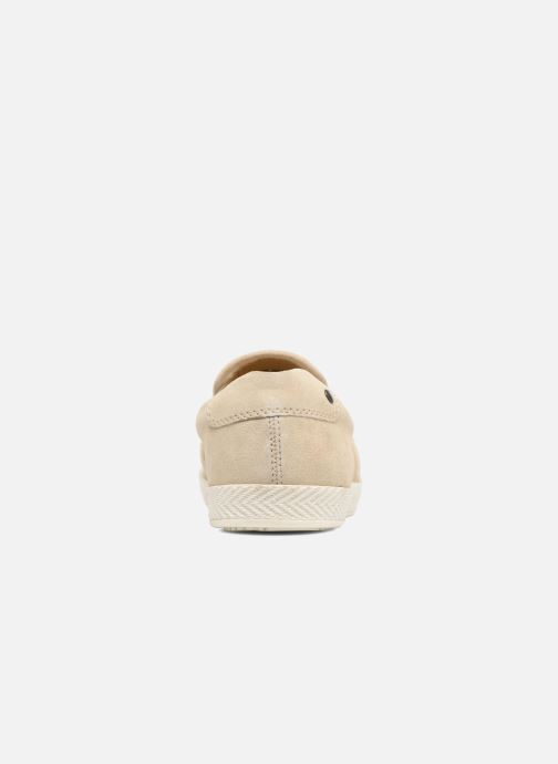 Mocassins Base London Clipper Beige vue droite