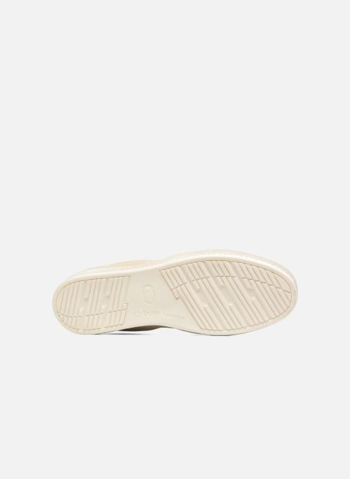 Mocassins Base London Clipper Beige vue haut