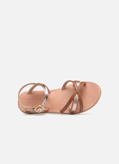 Sandales et nu-pieds Mellow Yellow Mndalya Marron vue gauche