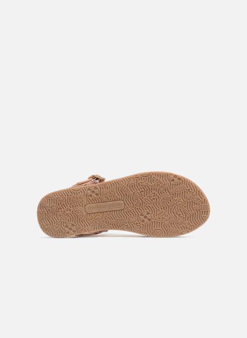 Sandales et nu-pieds Mellow Yellow Mndalya Marron vue haut