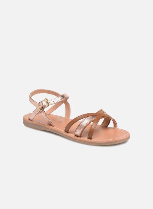 Sandales et nu-pieds Mellow Yellow Mndalya Marron vue détail/paire