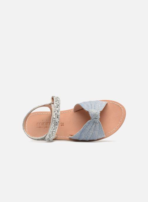 Sandales et nu-pieds Mellow Yellow Mndadenise Bleu vue gauche