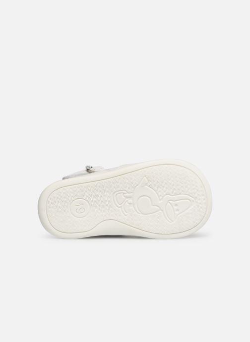 Ballet pumps Bopy Poum White view from above