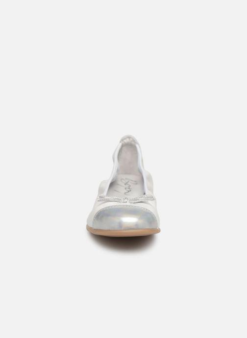 Ballerines Bopy Sarisa Blanc vue portées chaussures
