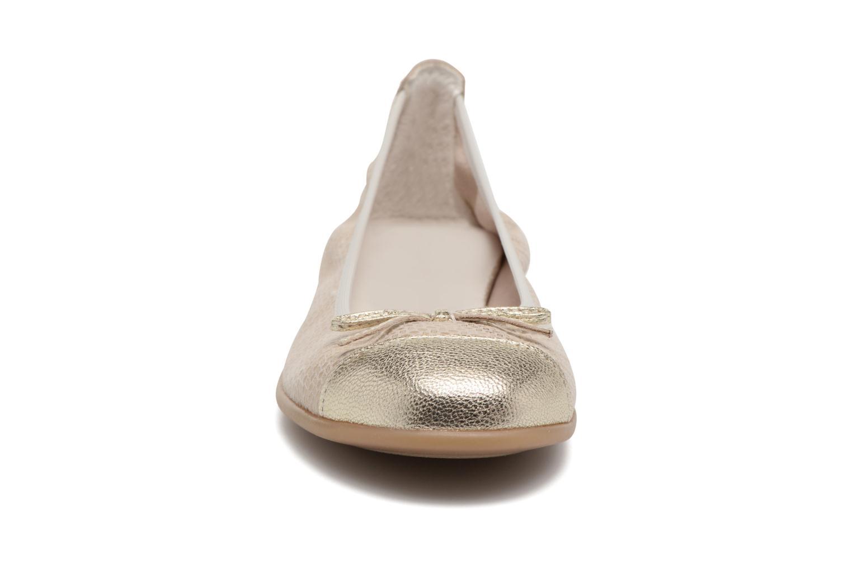 Ballerines Bopy Sabeline Or et bronze vue portées chaussures
