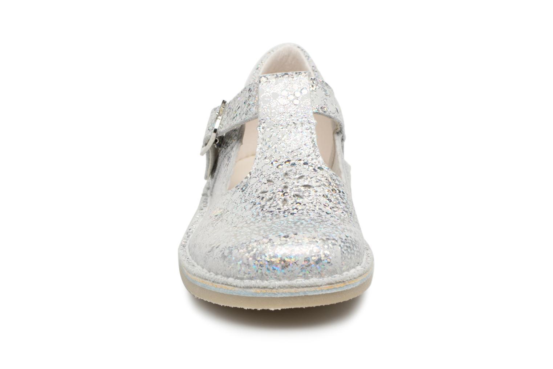 Ballerines Bopy Mepop Argent vue portées chaussures
