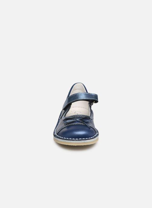 Ballerines Bopy Mevi Bleu vue portées chaussures