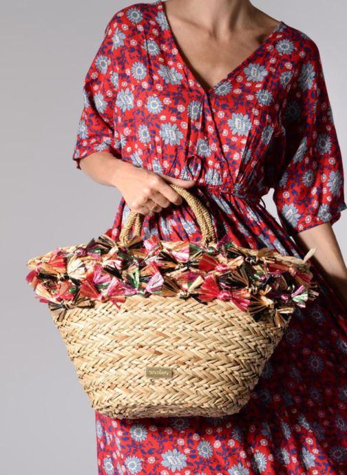 Handtaschen Gioseppo Panier Double anse nœuds beige ansicht von unten / tasche getragen