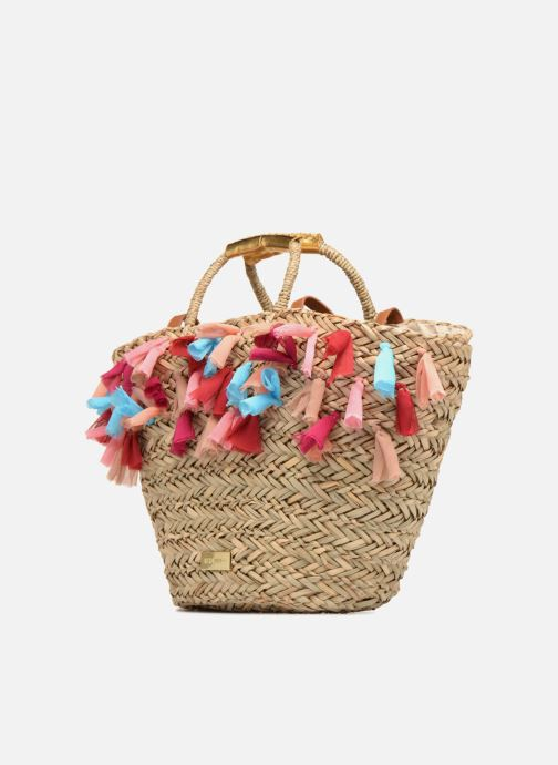 Handbags Gioseppo Panier Double anse pompom Beige model view