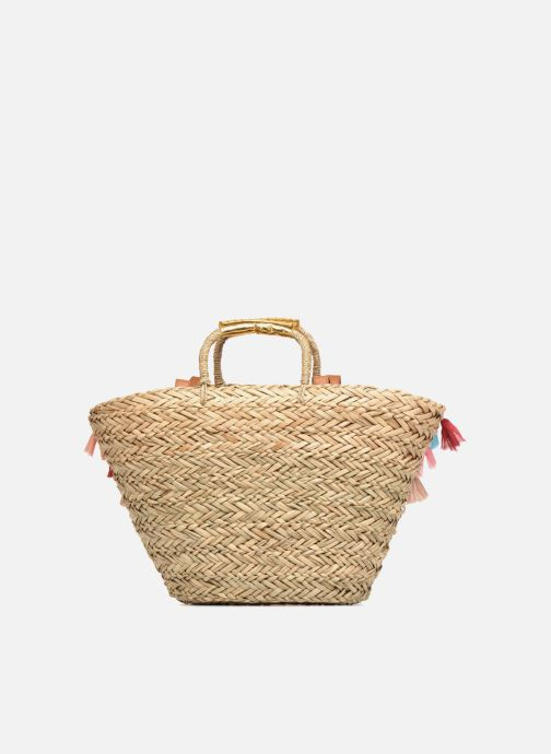 Handbags Gioseppo Panier Double anse pompom Beige front view