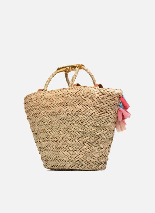 Handbags Gioseppo Panier Double anse pompom Beige view from the right