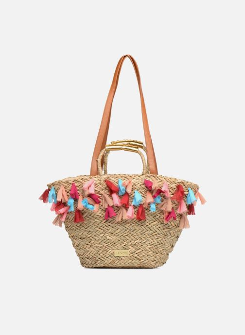 Handbags Gioseppo Panier Double anse pompom Beige view from the left