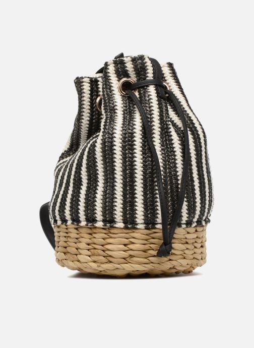 Handtaschen Gioseppo Seau rayé schwarz ansicht von rechts