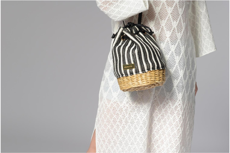 Handtassen Gioseppo Seau rayé Zwart boven