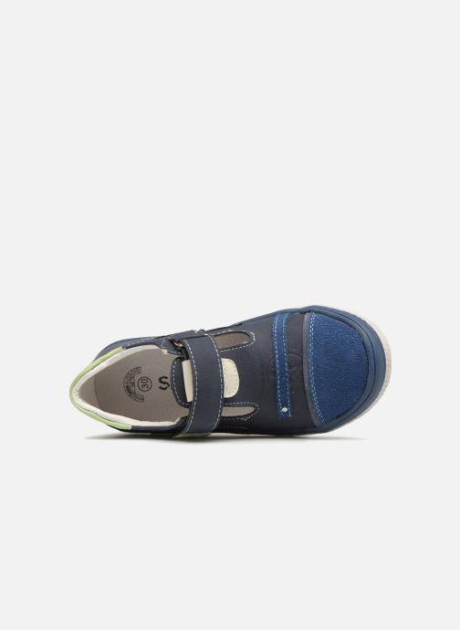 Sandalias Bopy Noba Sk8 Azul vista lateral izquierda