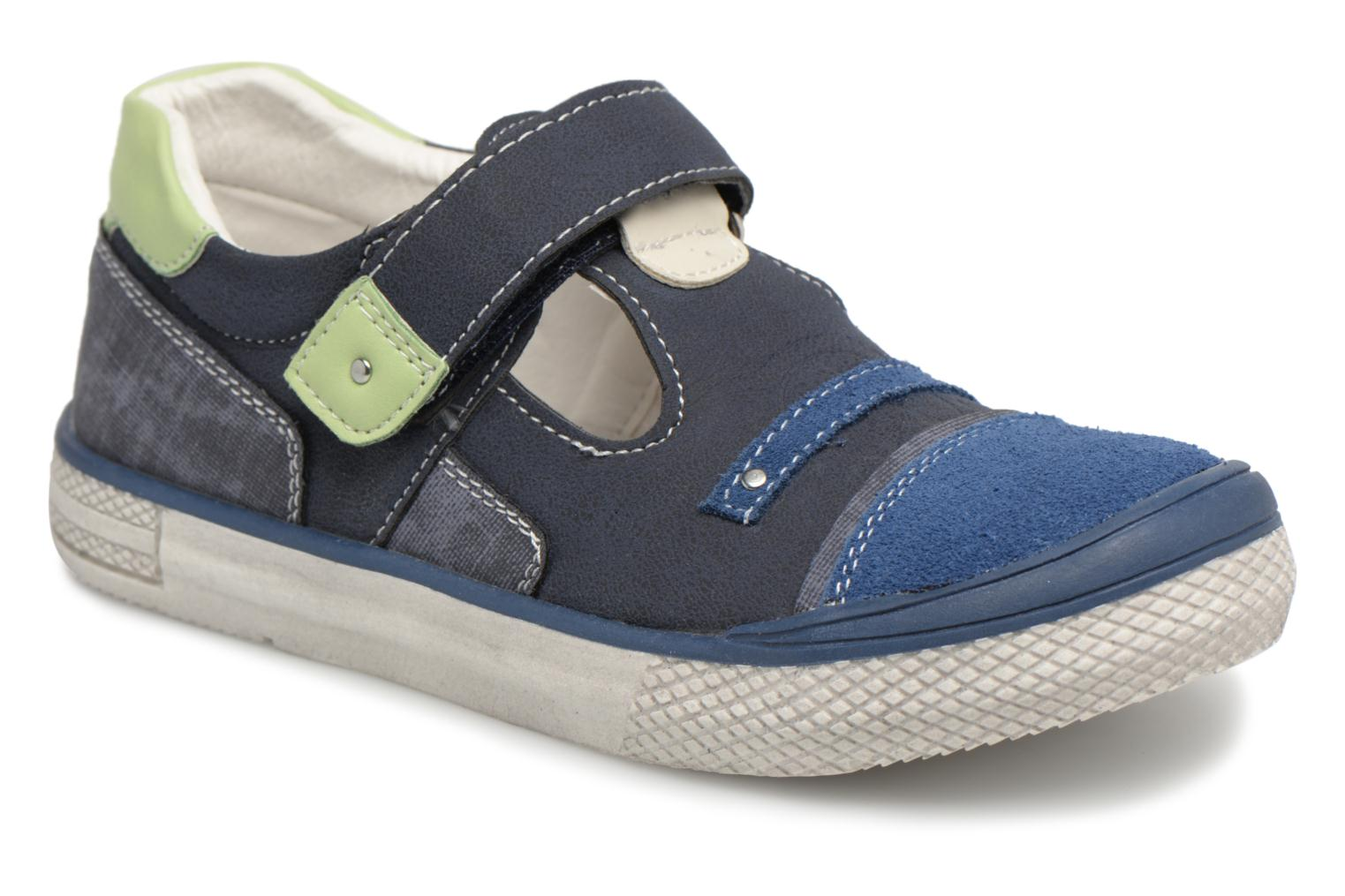 Sandals Bopy Noba Sk8 Blue detailed view/ Pair view