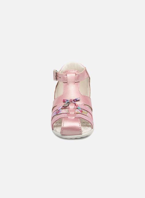 Sandales et nu-pieds Bopy Zahida Rose vue portées chaussures