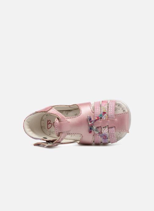 Sandales et nu-pieds Bopy Zahida Rose vue gauche