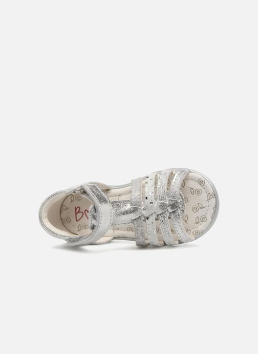 Sandales et nu-pieds Bopy Rita Argent vue gauche