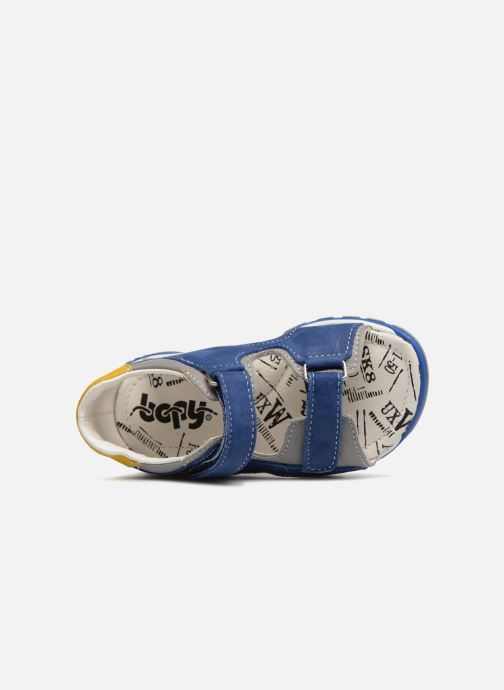 Sandals Bopy Bedmo Blue view from the left