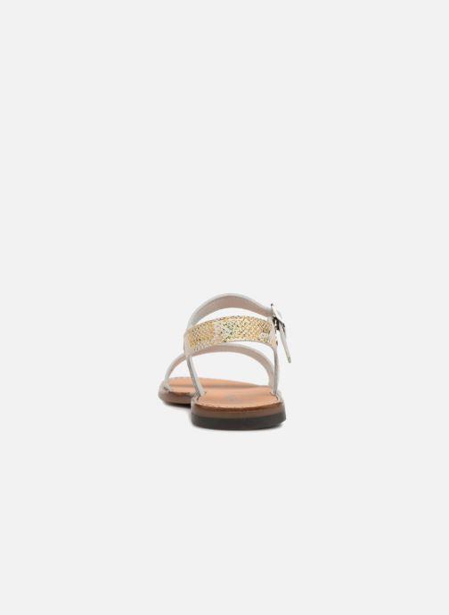 Sandales et nu-pieds Bopy Erelle Or et bronze vue droite