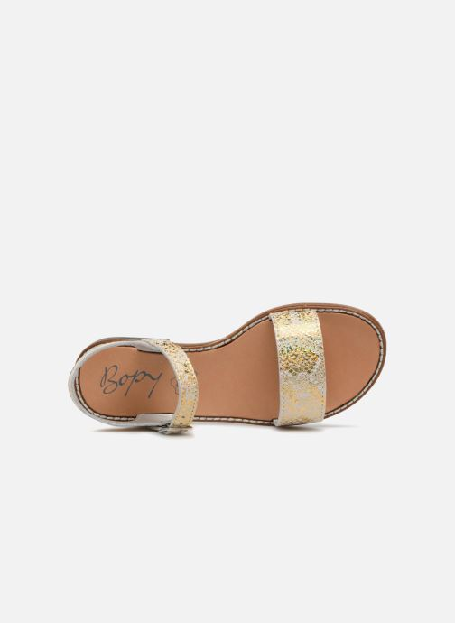 Sandals Bopy Erelle Bronze and Gold view from the left
