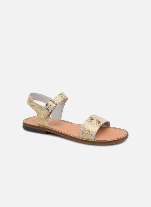 Sandales et nu-pieds Bopy Erelle Or et bronze vue détail/paire
