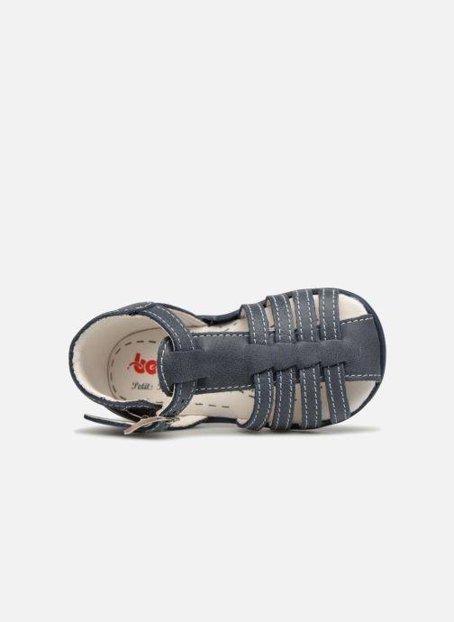 Sandales et nu-pieds Bopy Paulana Bleu vue gauche