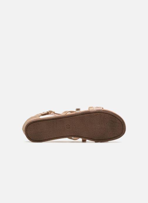 Sandales et nu-pieds Bullboxer Ida Or et bronze vue haut