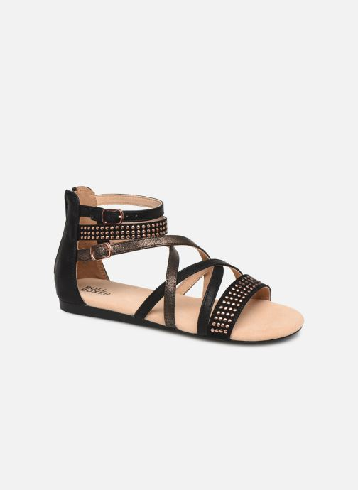Sandals Bullboxer Ida Black detailed view/ Pair view