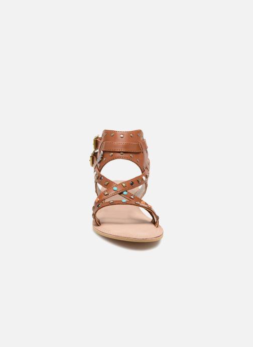 Sandales et nu-pieds Kaporal Moore Marron vue portées chaussures
