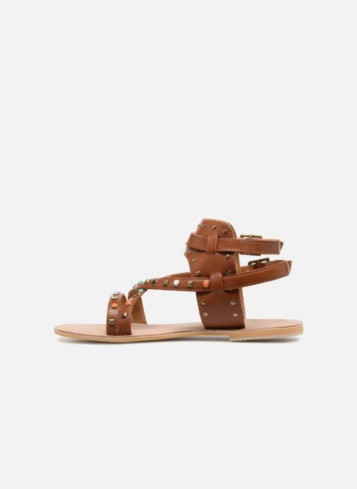Sandales et nu-pieds Kaporal Moore Marron vue face