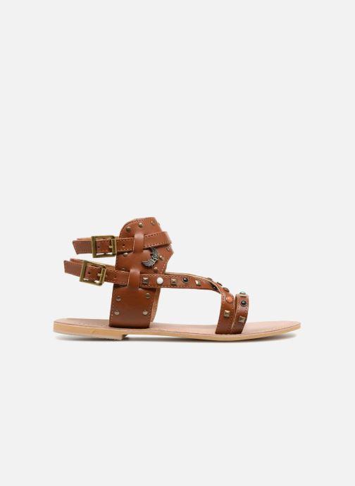 Sandales et nu-pieds Kaporal Moore Marron vue derrière